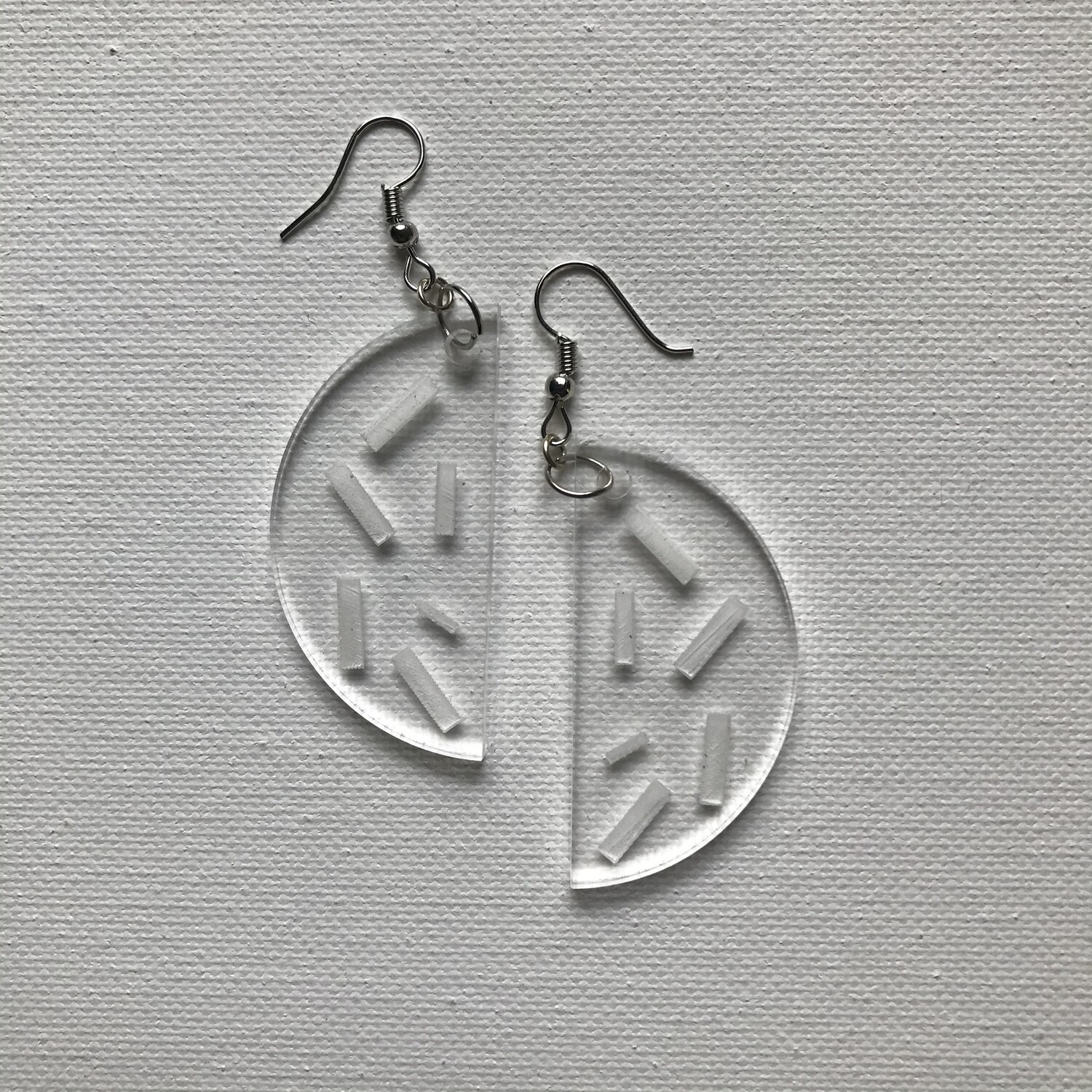 Acrylic Half Moon Drop Earring