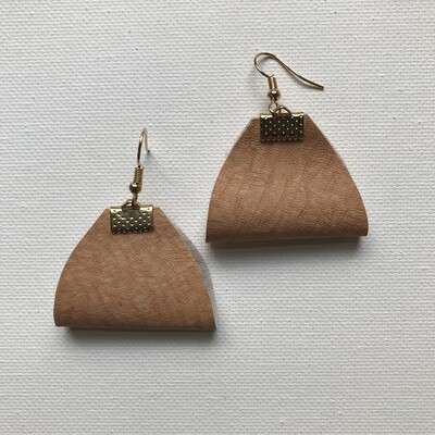 Faux Leather Drop Earring