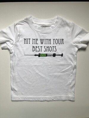 Hit Me with Your Best Shots Tee - Green