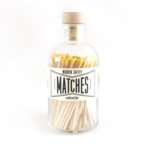 Vintage Apothecary Matches - Yellow