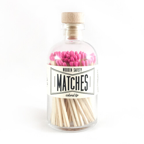 Vintage Apothecary Matches - Pink