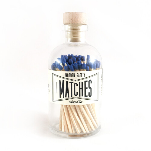Vintage Apothecary Matches - Blue