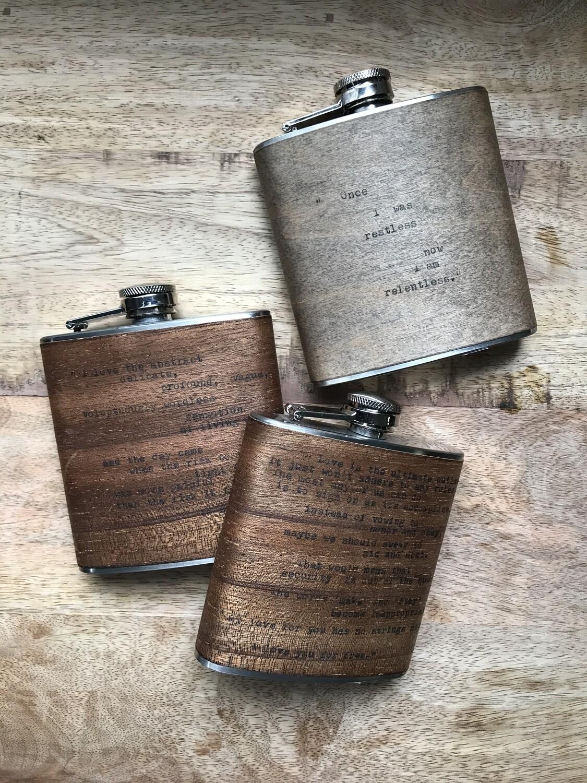 Wood Veneer Flask