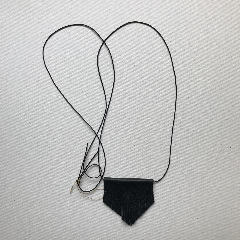 Fringe Leather Necklace