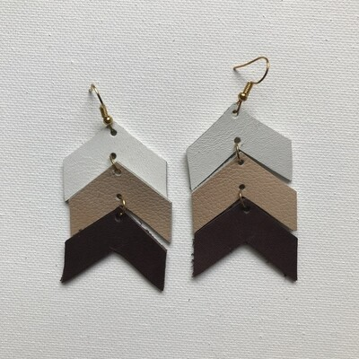 Tiered Chevron Earring