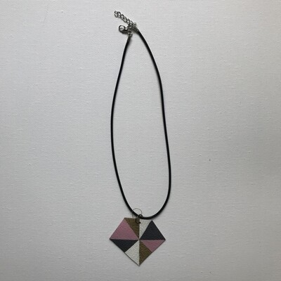 Painted Leather Necklace