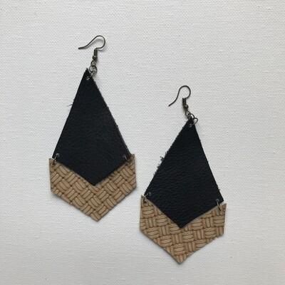 Textured Chevron Earring