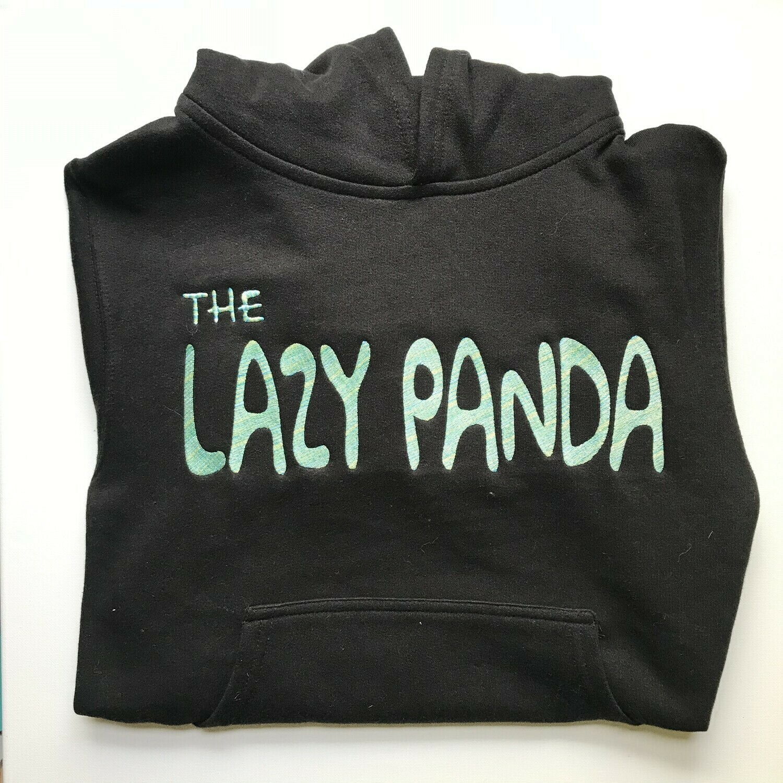 Lazy Panda Hoodie - Black + Green