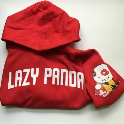 Lazy Panda Hoodie - Red
