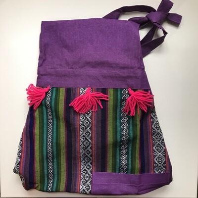 Textile Apron - Purple + Blue