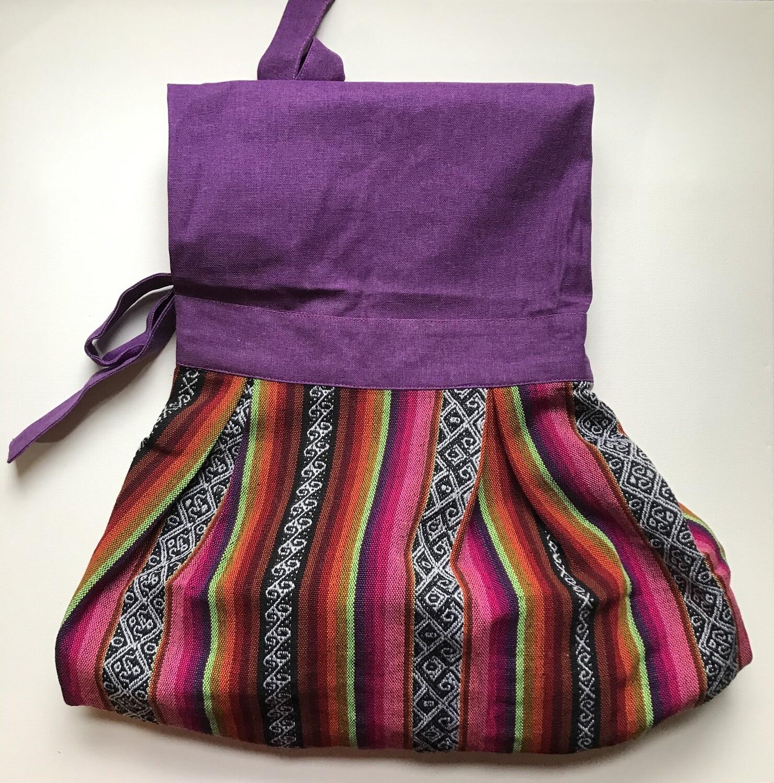 Textile Apron - Purple + Pink