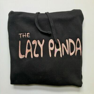 Lazy Panda Hoodie - Black + Red