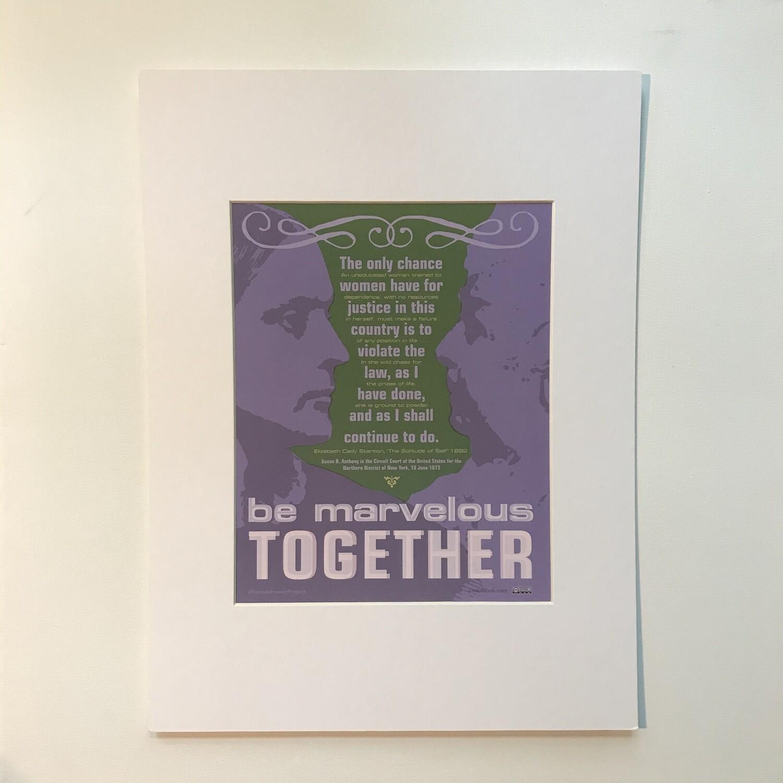 Elizabeth Cady Stanton + Susan B. Anthony Print