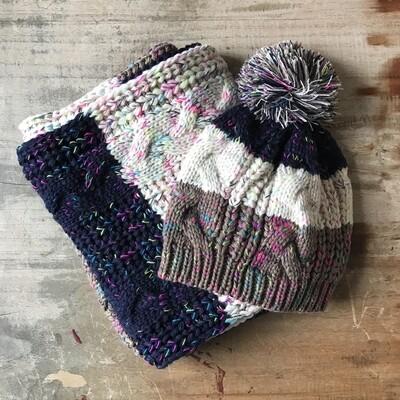 Confetti Knit Hat + Scarf Set
