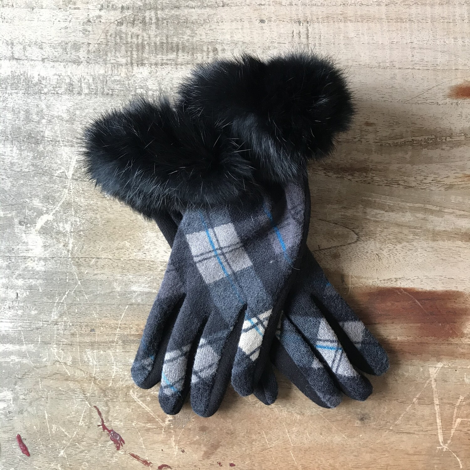Faux Fur Cuff Glove