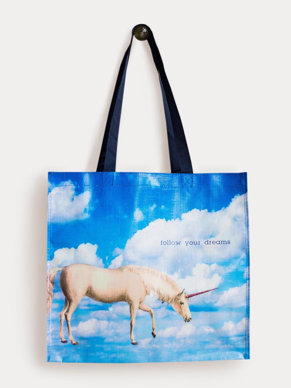 Unicorn Follow Your Dreams Market Tote