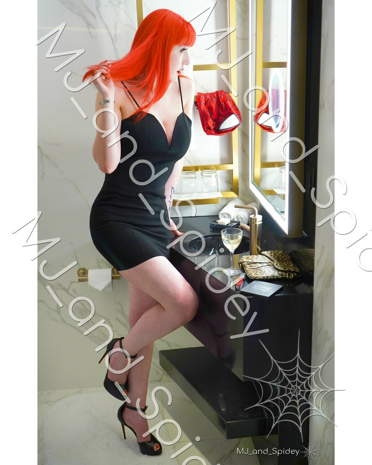 Marvel - Spider-Man - Mary Jane Watson - Glamor No. 3 - 8x10 Cosplay Print (@MJ_and_Spidey, MJ and Spidey, Comics)