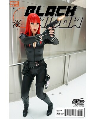 Marvel - Avengers - Black Widow No. 8B - All Star Variant - Digital Cosplay Image (@MJ_and_Spidey, MJ and Spidey, Comics)