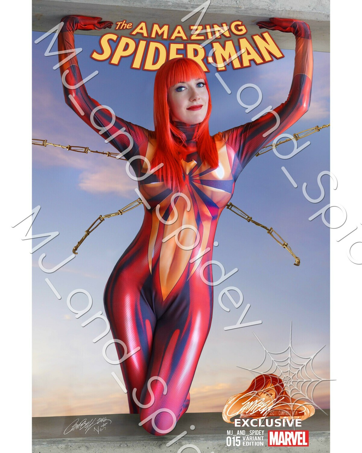 Marvel - Spider-Man - Mary Jane Watson - Iron Spider - Campbell No. 1 - Digital Cosplay Image (@MJ_and_Spidey, MJ and Spidey, Comics)