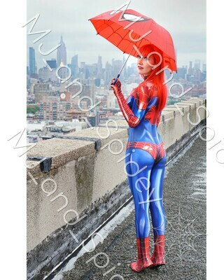 Marvel - Spider-Man - Mary Jane Watson - Classic Spider-Suit - NYC No. 1 - Digital Cosplay Image (@MJ_and_Spidey, MJ and Spidey, Comics)