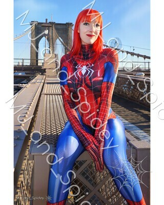 Marvel - Spider-Man - Mary Jane Watson - Classic Spider-Suit - NYC No. 2 - 8x10 Cosplay Print (@MJ_and_Spidey, MJ and Spidey, Comics)