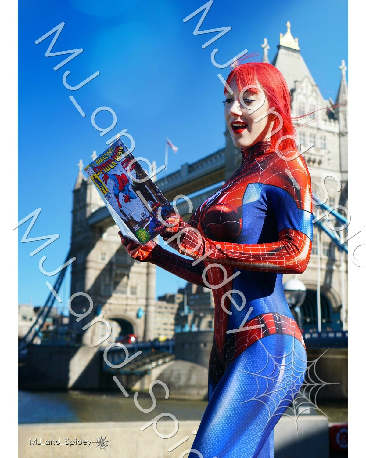 Marvel - Spider-Man - Mary Jane Watson - Classic Spider-Suit - UK No. 1 - Digital Cosplay Image (@MJ_and_Spidey, MJ and Spidey, Comics)