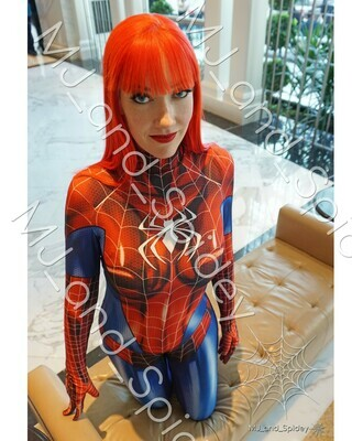 Marvel - Spider-Man - Mary Jane Watson - Classic Spider-Suit - MAGFest No. 1 - 8x10 Cosplay Print (@MJ_and_Spidey, MJ and Spidey, Comics)