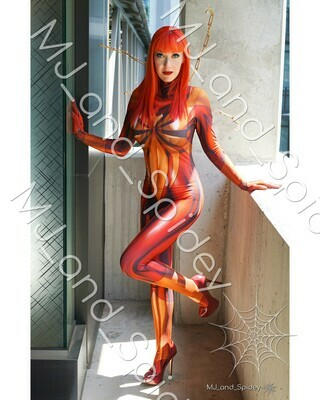 Marvel - Spider-Man - Mary Jane Watson - Iron Spider No. 1  - 8x10 Cosplay Print (@MJ_and_Spidey, MJ and Spidey, Comics)