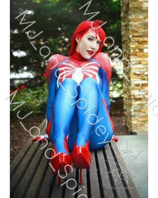 Marvel - Spider-Man - Mary Jane Watson - PS4 Insomniac Spider-Suit No. 3 - 8x10 Cosplay Print (@MJ_and_Spidey, MJ and Spidey, Comics)
