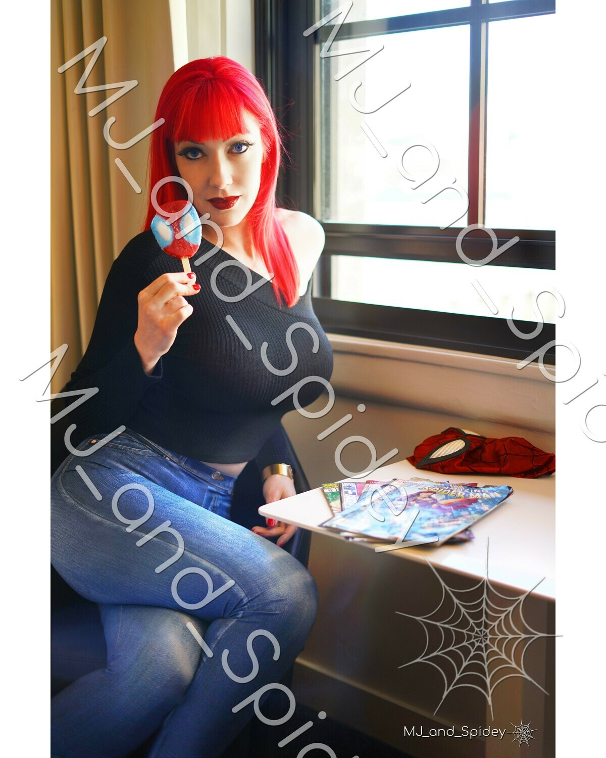 Marvel - Spider-Man - Mary Jane Watson - Popsicle No. 1 - Digital Cosplay Image (@MJ_and_Spidey, MJ and Spidey, Comics)
