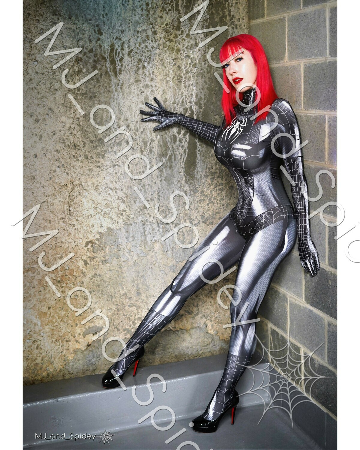 Marvel - Spider-Man - Mary Jane Watson - Symbiote Spider-Suit No. 1 - 8x10 Cosplay Print (@MJ_and_Spidey, MJ and Spidey, Comics)