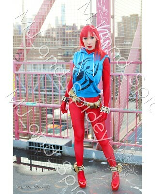 Marvel - Spider-Man - Mary Jane Watson - Reilly Scarlet Spider No. 1 - 8x10 Cosplay Print (@MJ_and_Spidey, MJ and Spidey, Comics)