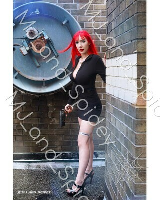 Cyberpunk - Mary Jane Watson - Replicant - No. 1 - Digital Cosplay Image (@MJ_and_Spidey, Sci Fi, Science Fiction, Blade Runner)