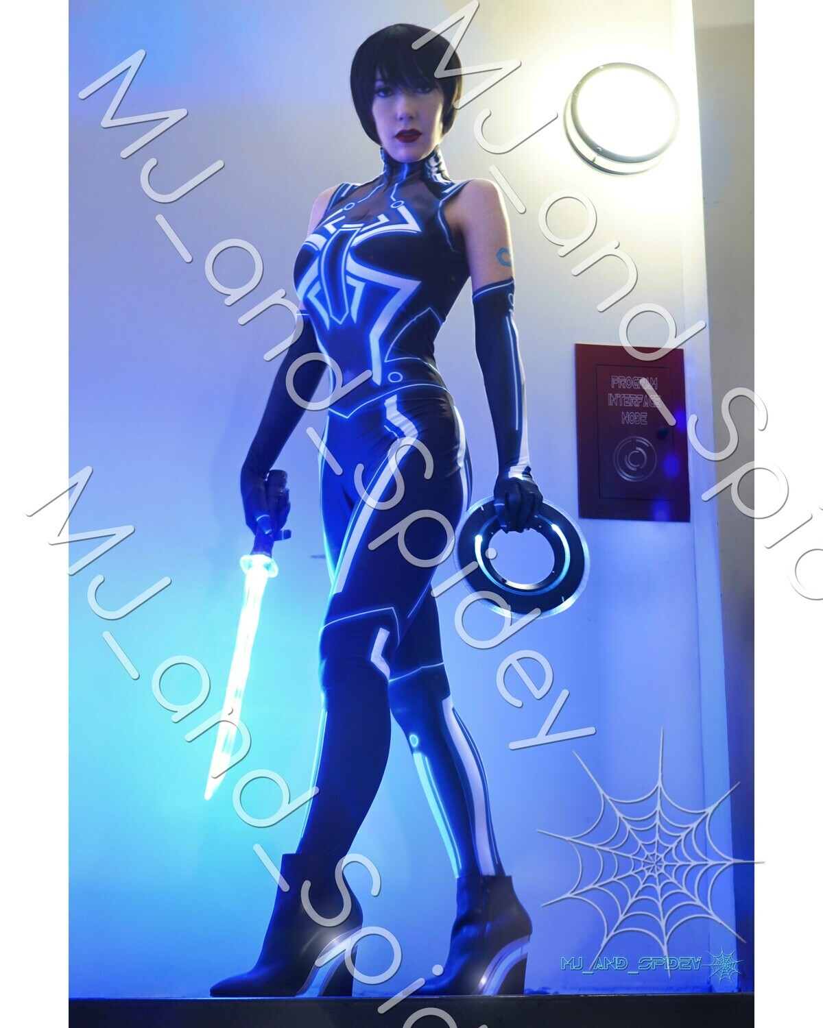 Sci-Fi - Mary Jane Watson - Quorra of TRON Legacy - No. 1 - 8x10 Cosplay Print (@MJ_and_Spidey, Sci Fi, Science Fiction, Cyberpunk)