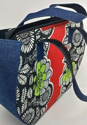 Jeans and Ankara African Print Handbag -Nigeria 🇳🇬