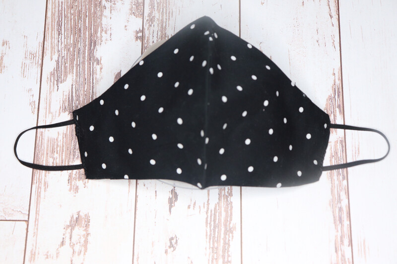Black With White Dots Cloth masks