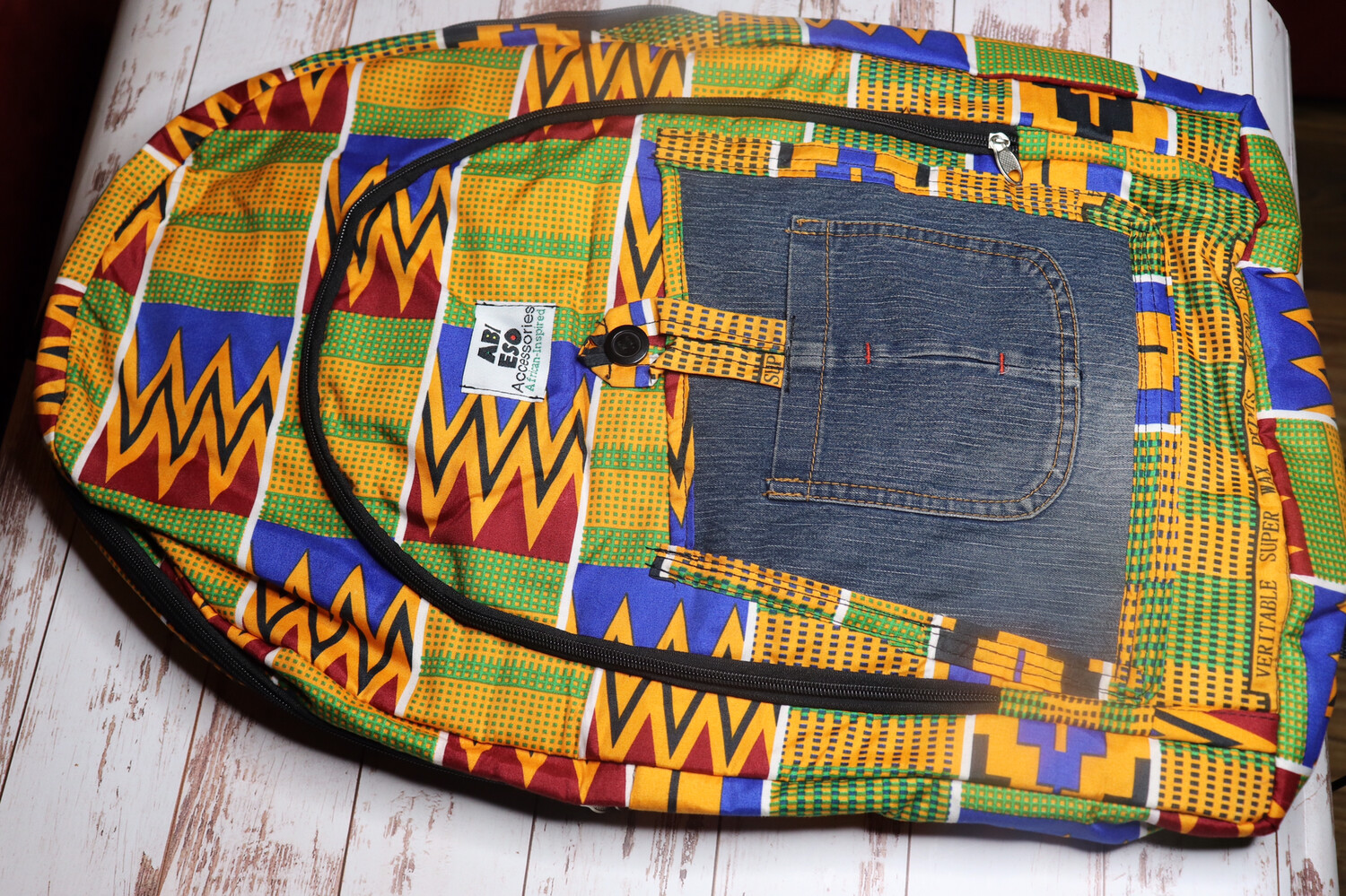 African-inspired Fabric Backpack