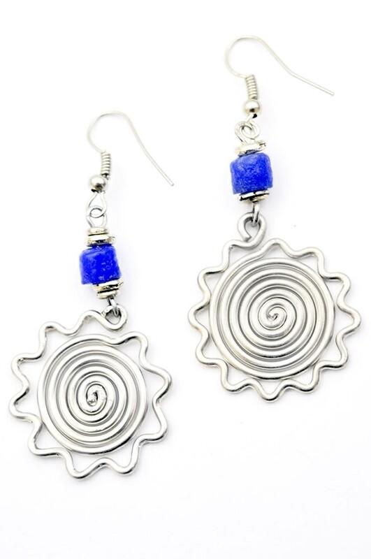 Silver Sun Earrings - Kenya 🇰🇪