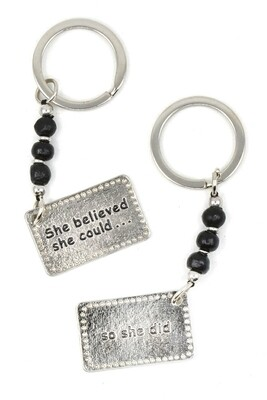 """""""She believed she could..."""" South Africa 🇿🇦 double-sided keychain"""