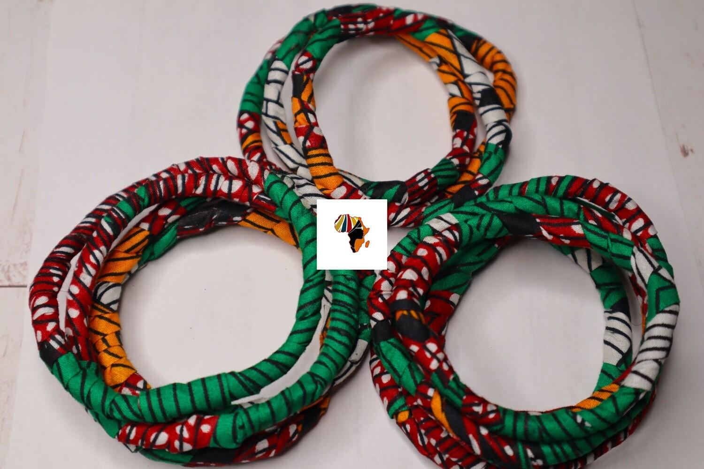 Ankara Braided Bracelets  - Nigeria