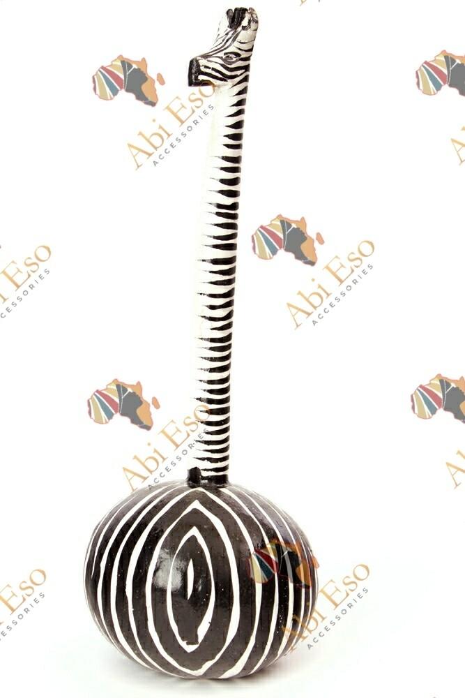 Handmade Zebra Calabash Gourd Maraca 🇰🇪