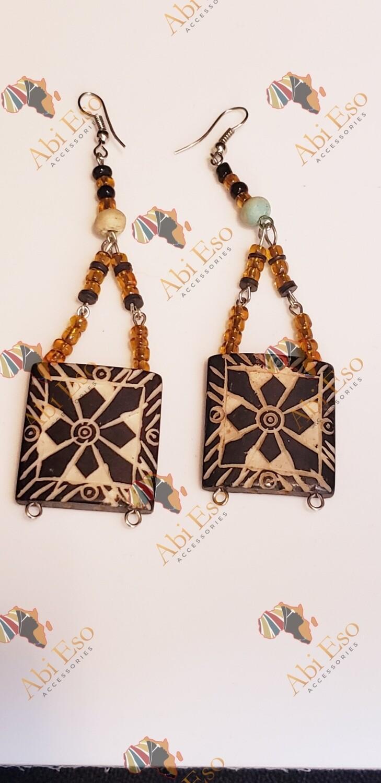 African-inspired Multi-media earrings