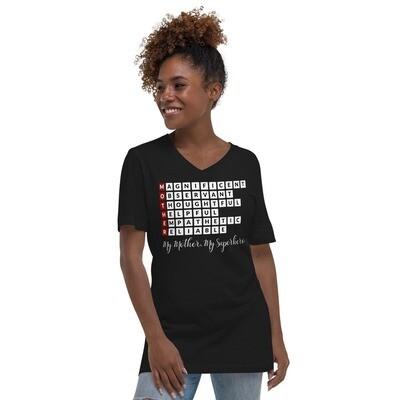 Mother TM - Unisex Short Sleeve V-Neck T-Shirta