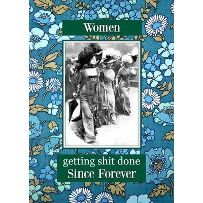 Women Getting Shit Done card