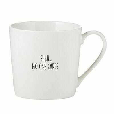 No One Cares mug