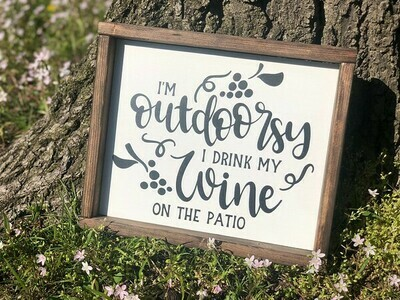 Outdoorsy Wine on Patio