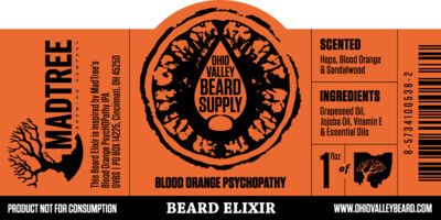 Blood Orange Psychopathy Beard Elixer