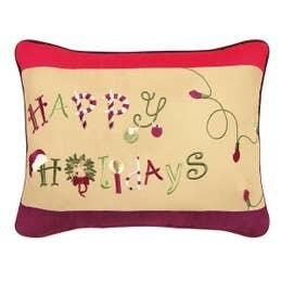 Happy Holidays Pillow