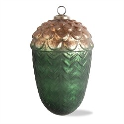 Acorn Glass Ornament