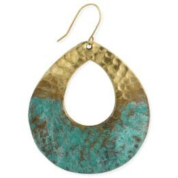 Gold Hammered Earrings